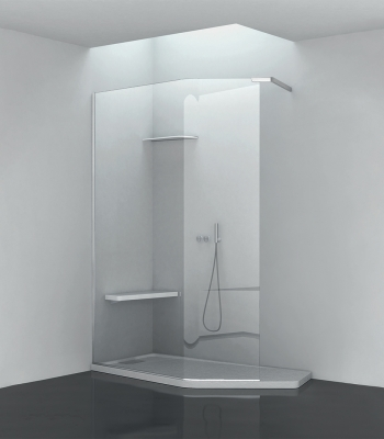 Shower enclosures E9F8A, CORNER - WALK-IN